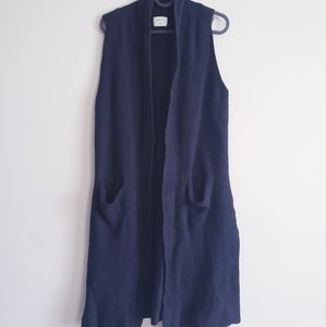 WILFRED ARITZIA  Black Long Wool Vest